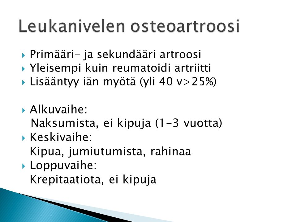 Leukanivelen osteoartroosi