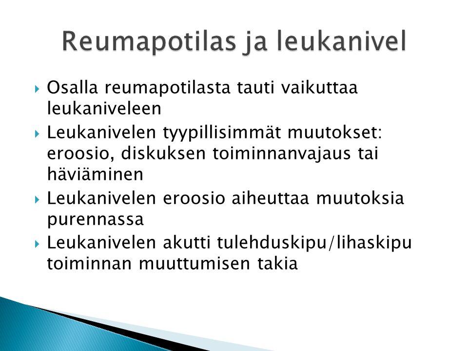 Reumapotilas ja leukanivel