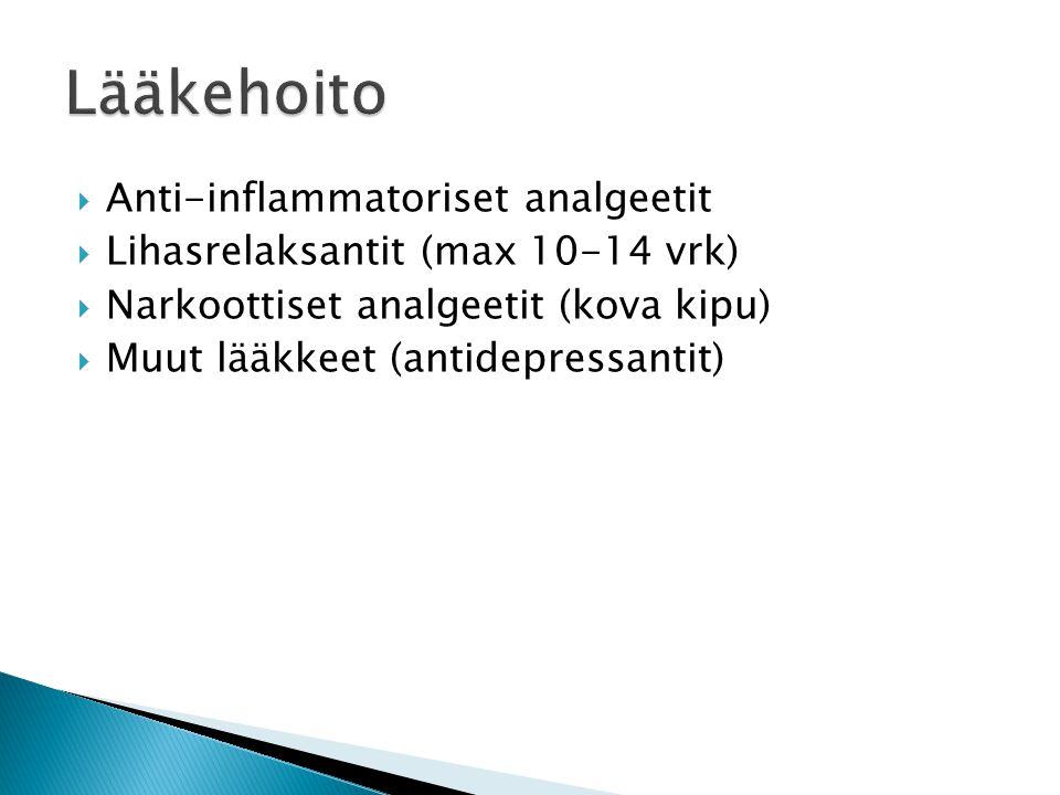 Lääkehoito Anti-inflammatoriset analgeetit