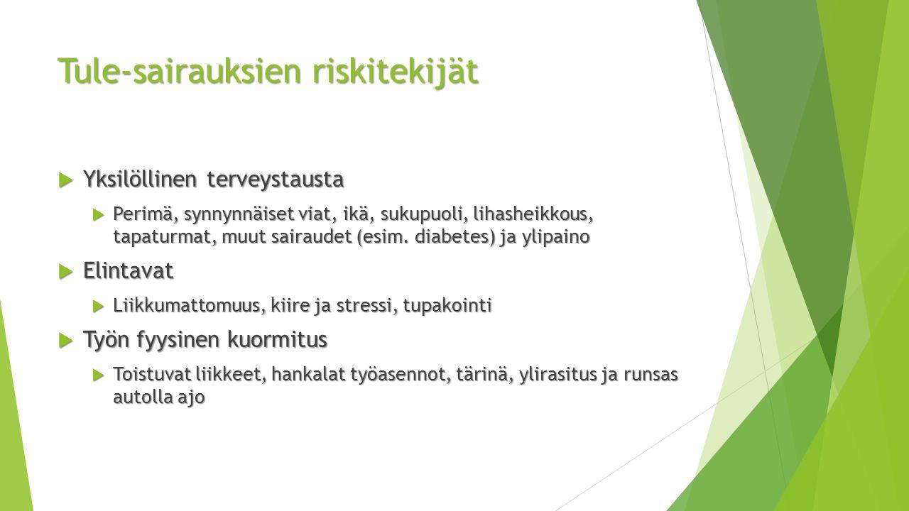 Tule-sairauksien riskitekijät