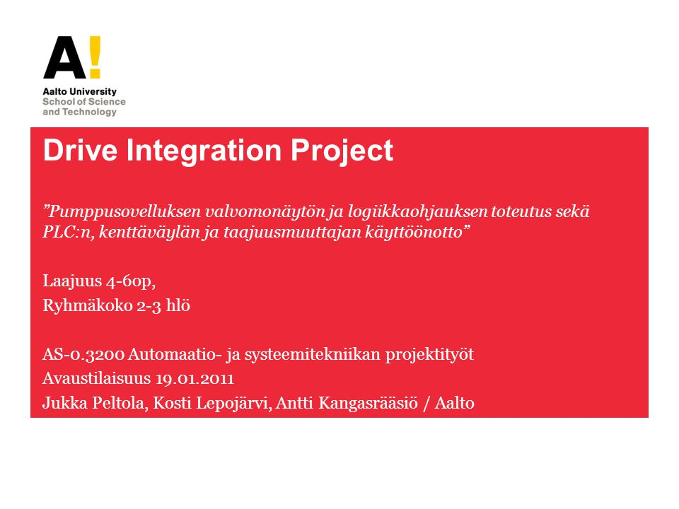 Drive Integration Project