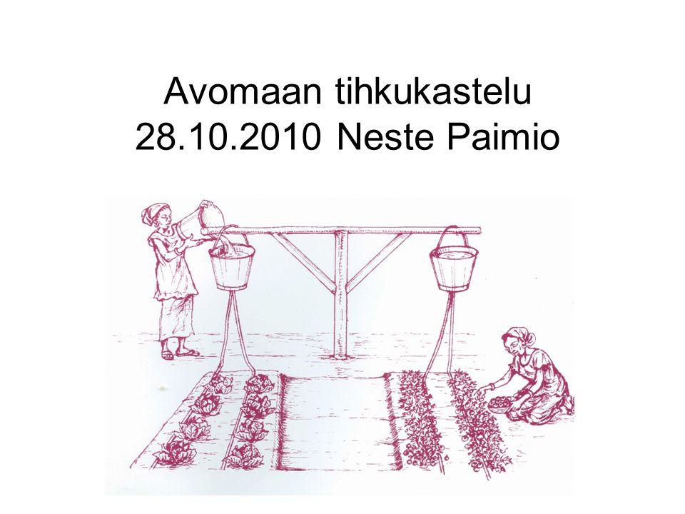 Avomaan tihkukastelu 28.10.2010 Neste Paimio