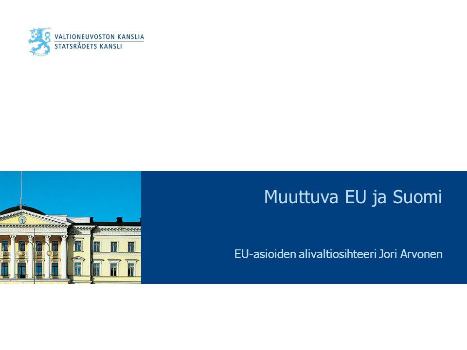EU-asioiden alivaltiosihteeri Jori Arvonen
