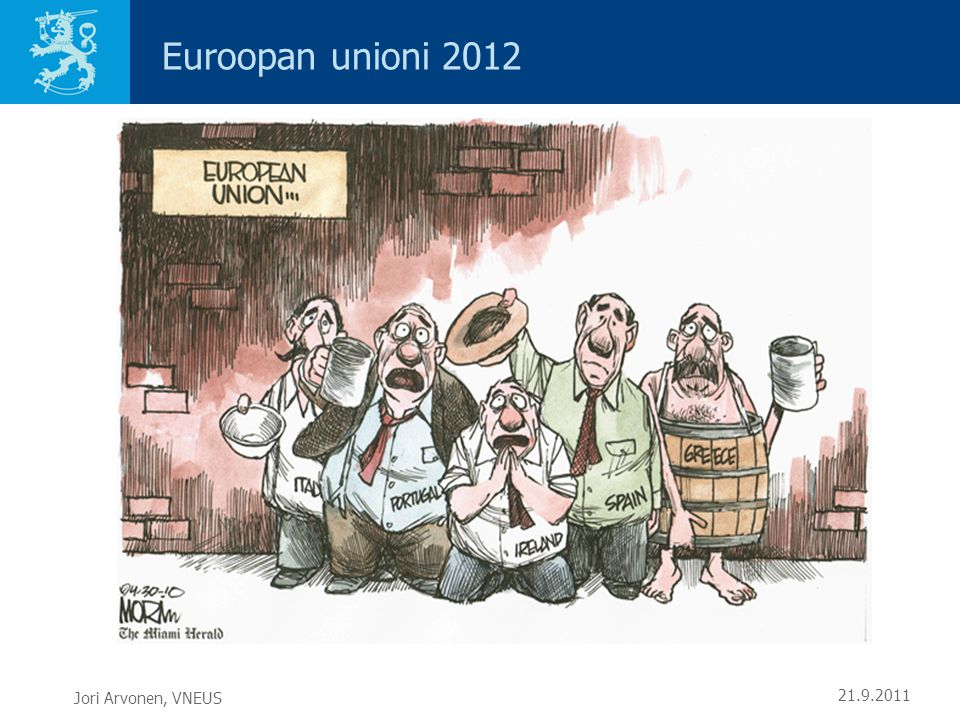 Euroopan unioni 2012 Jori Arvonen, VNEUS 21.9.2011