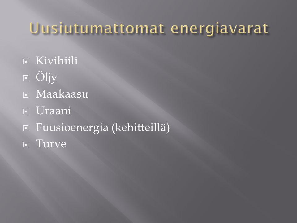 Uusiutumattomat energiavarat