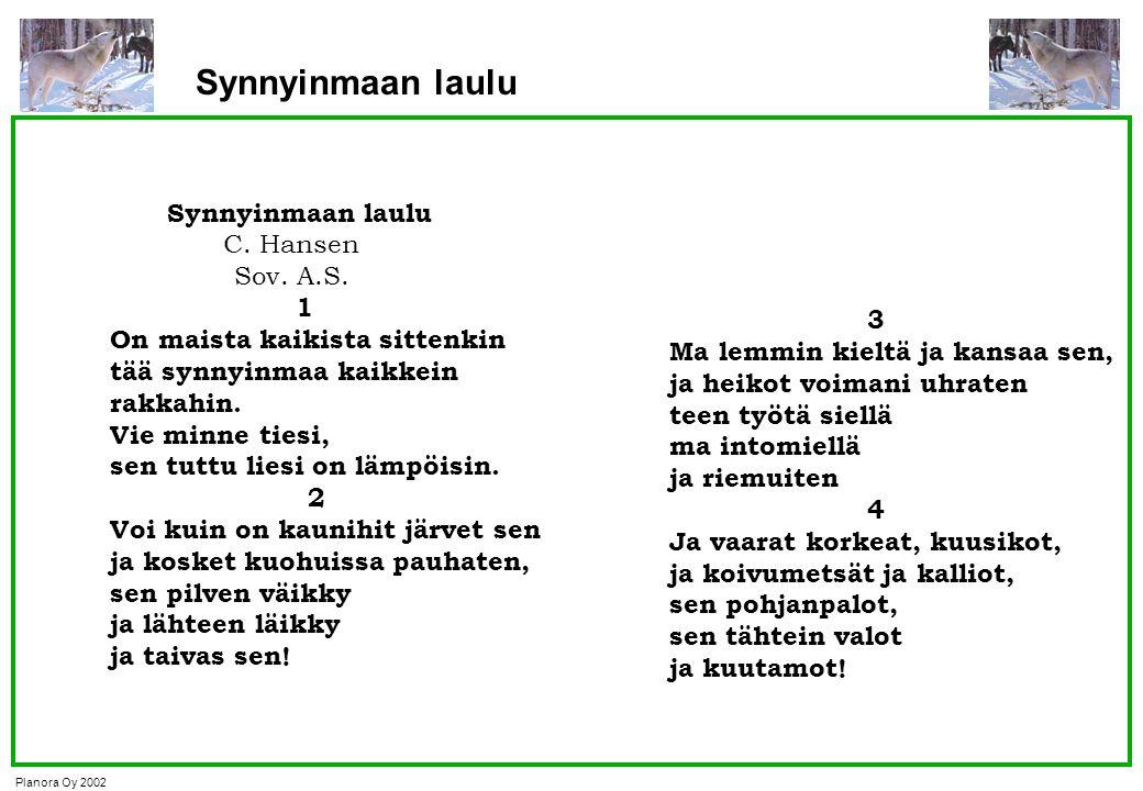 Synnyinmaan laulu Synnyinmaan laulu C. Hansen Sov. A.S. 1