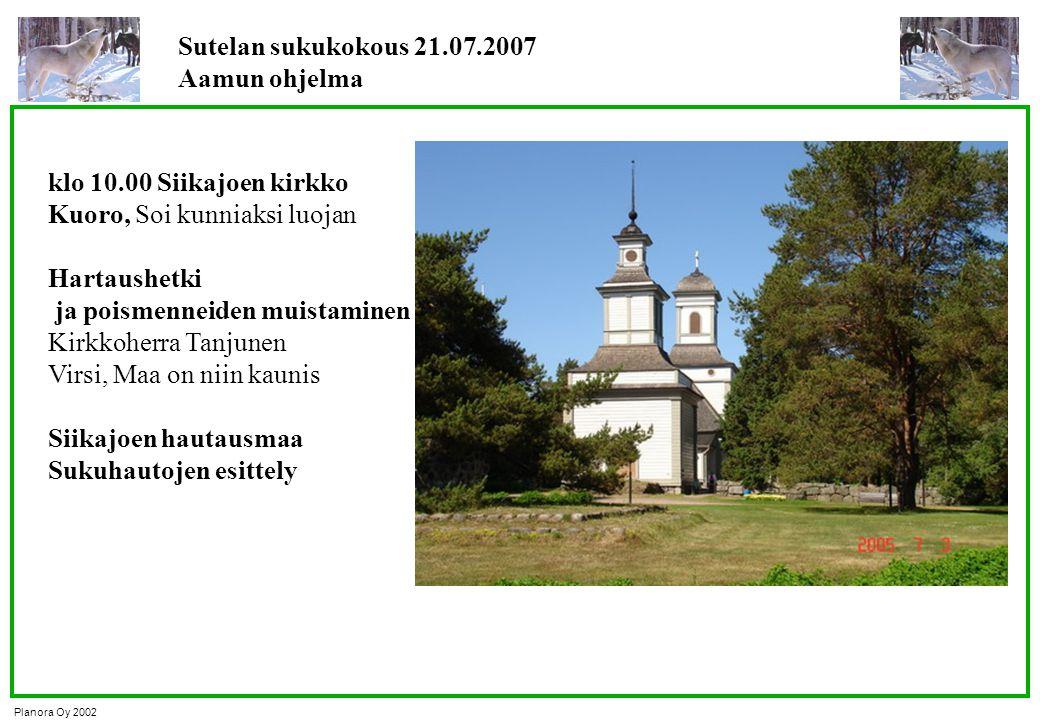Sutelan sukukokous 21.07.2007 Aamun ohjelma