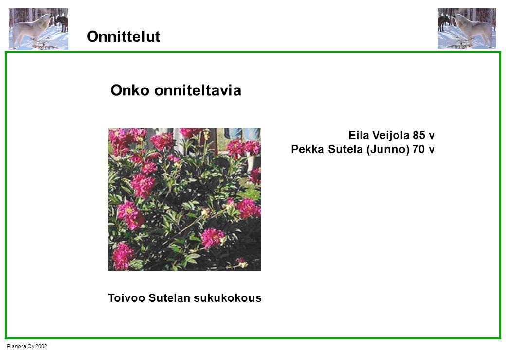 Onnittelut Onko onniteltavia Eila Veijola 85 v