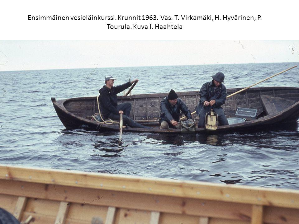 Ensimmäinen vesieläinkurssi. Krunnit 1963. Vas. T. Virkamäki, H