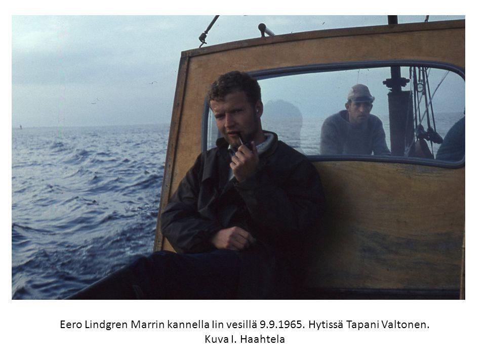 Eero Lindgren Marrin kannella Iin vesillä 9. 9. 1965