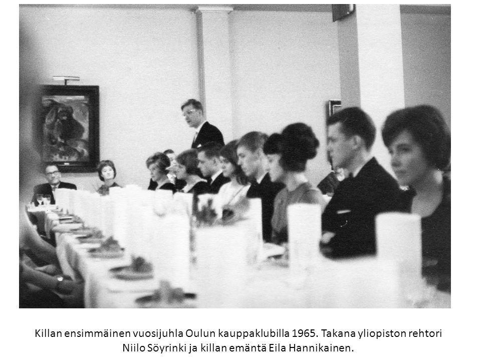 Killan ensimmäinen vuosijuhla Oulun kauppaklubilla 1965