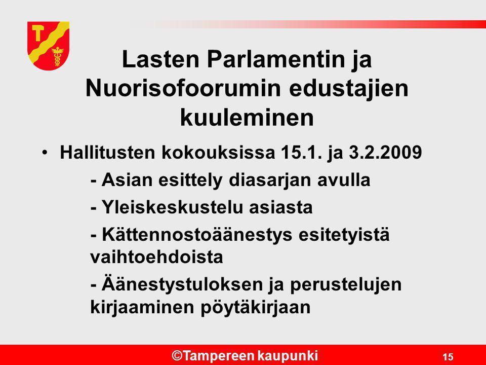 Lasten Parlamentin ja Nuorisofoorumin edustajien kuuleminen