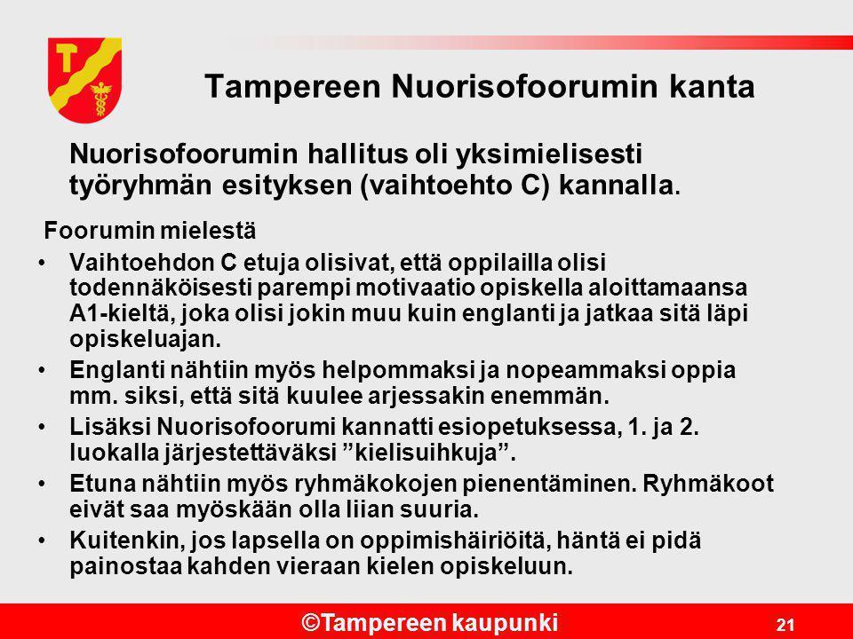 Tampereen Nuorisofoorumin kanta