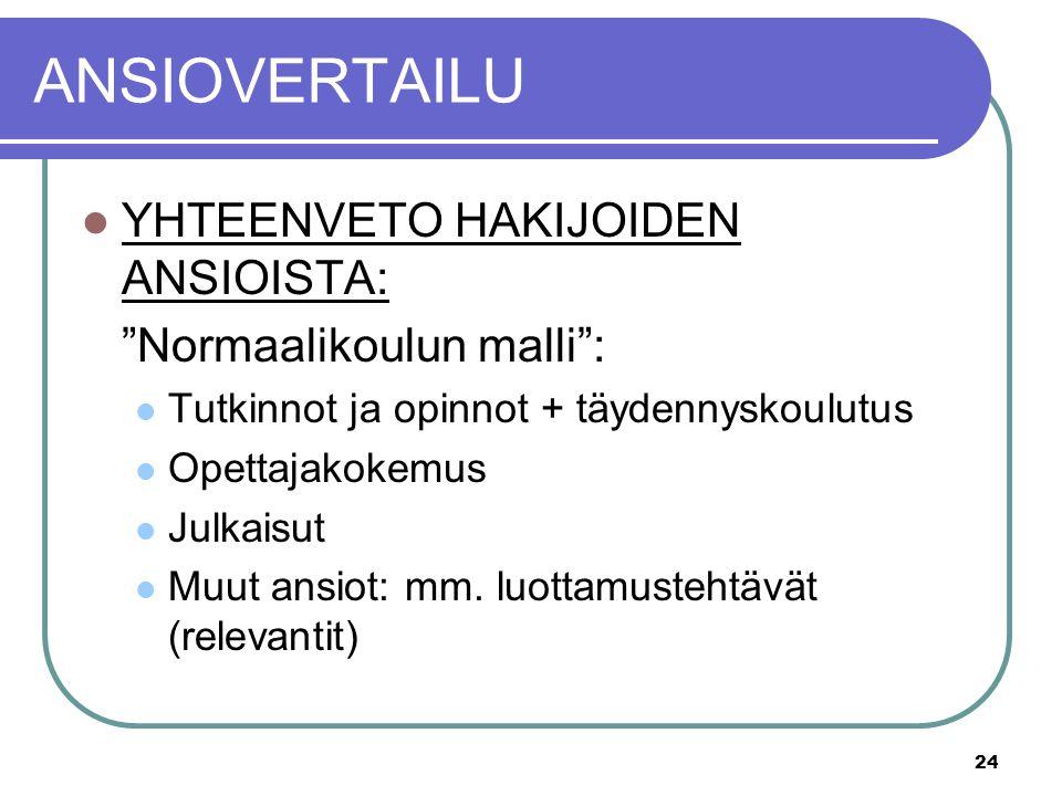 TYÖN HAKU, CV JA KELPOISUUDET - ppt lataa