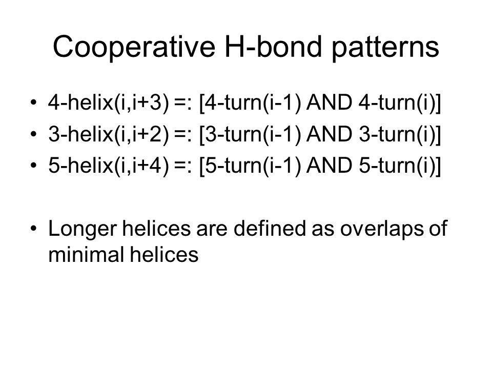 Cooperative H-bond patterns