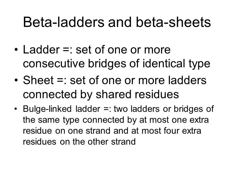 Beta-ladders and beta-sheets