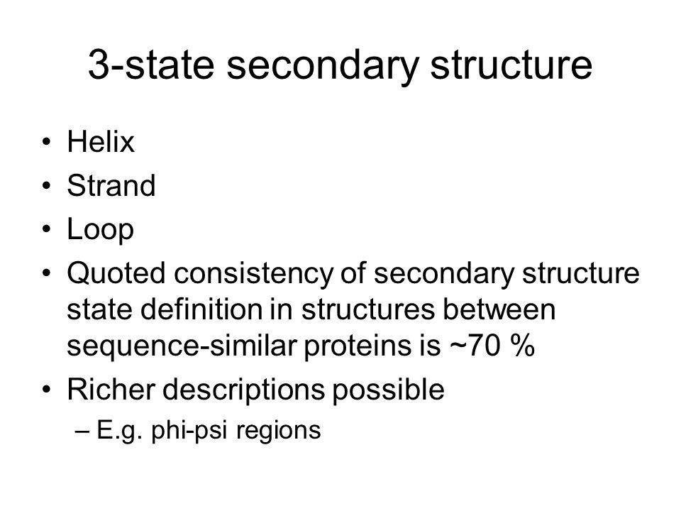 3-state secondary structure