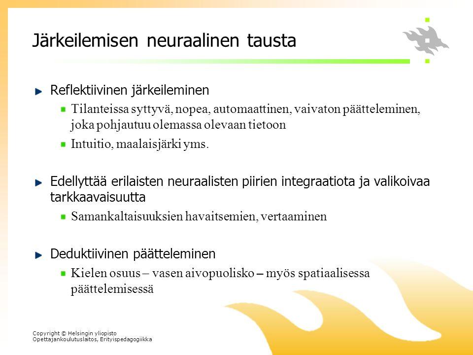 Järkeilemisen neuraalinen tausta