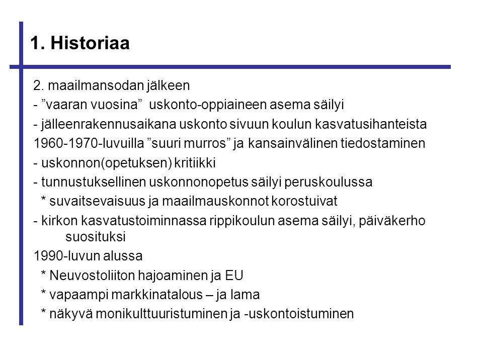 1. Historiaa 2. maailmansodan jälkeen
