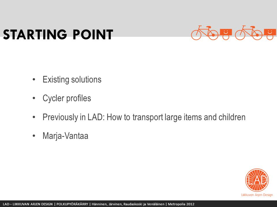 STARTING POINT Existing solutions Cycler profiles