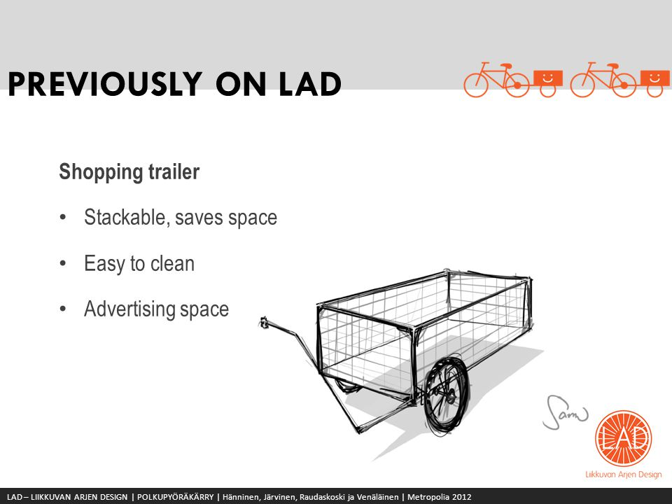 PREVIOUSLY ON LAD Shopping trailer Stackable, saves space