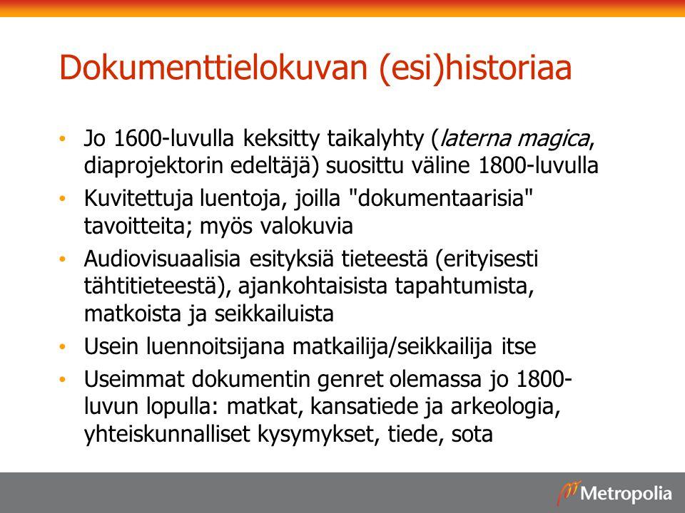 Dokumenttielokuvan (esi)historiaa