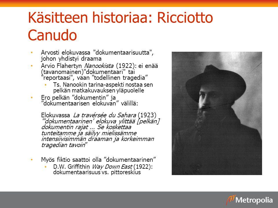 Käsitteen historiaa: Ricciotto Canudo