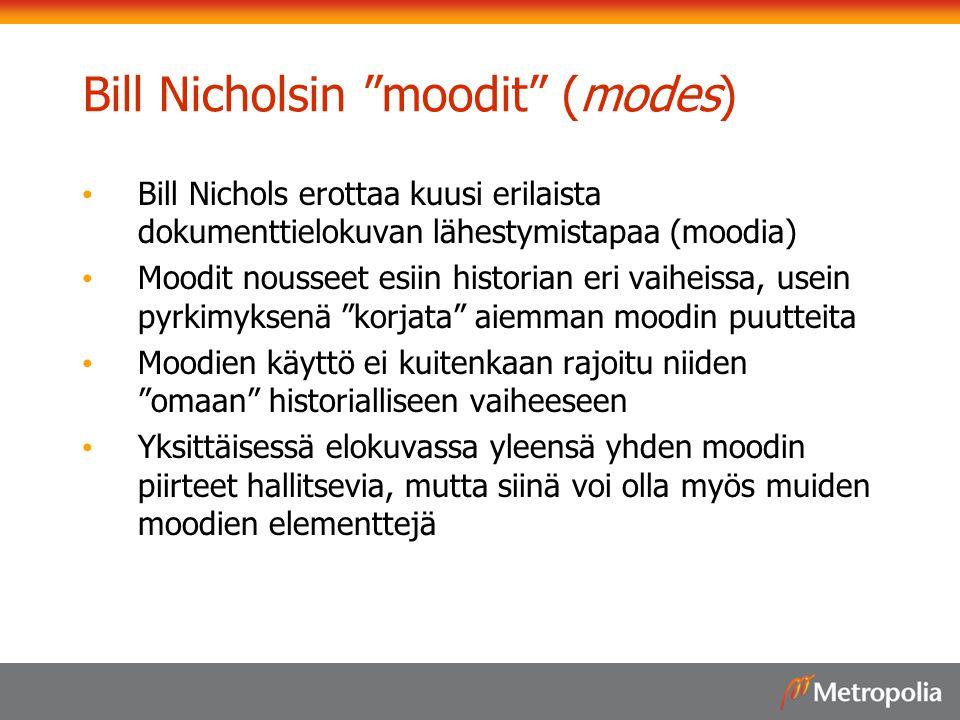 Bill Nicholsin moodit (modes)
