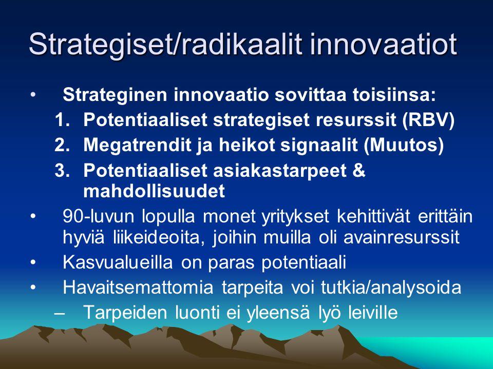Strategiset/radikaalit innovaatiot