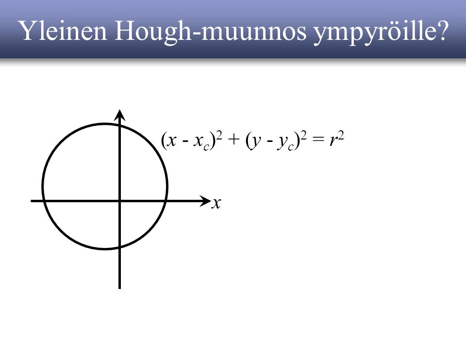Yleinen Hough-muunnos ympyröille