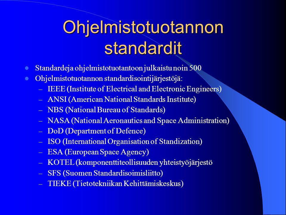 ohjelmistotekniikka specifikaatiot m 228 228 rittely suunnittelu ty 246 kalut ja standardit kev 228 t 2002
