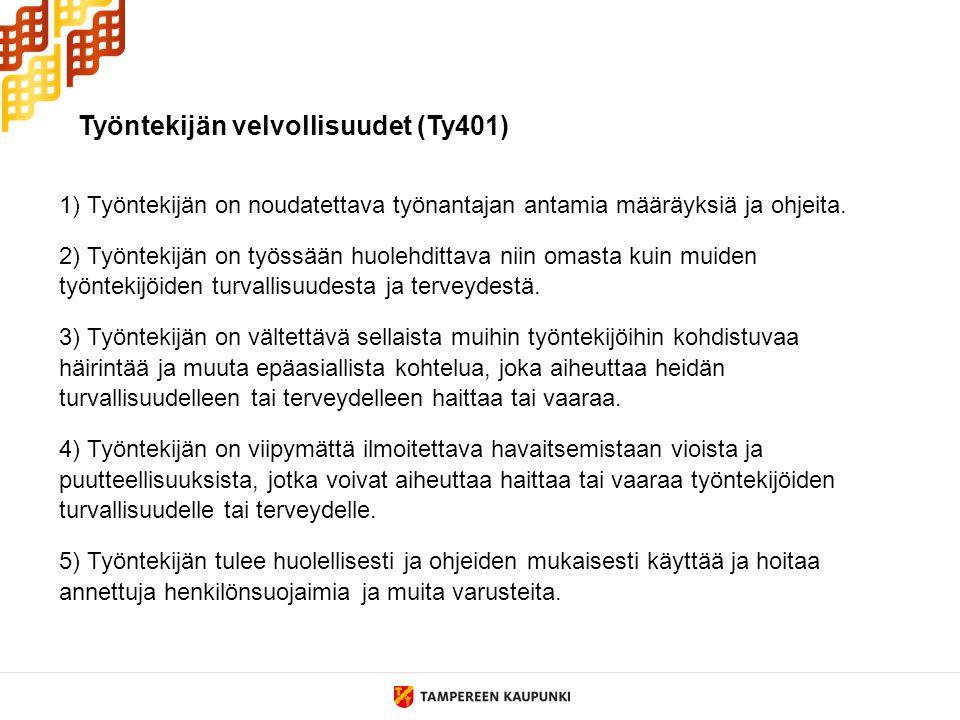 Työntekijän velvollisuudet (Ty401)
