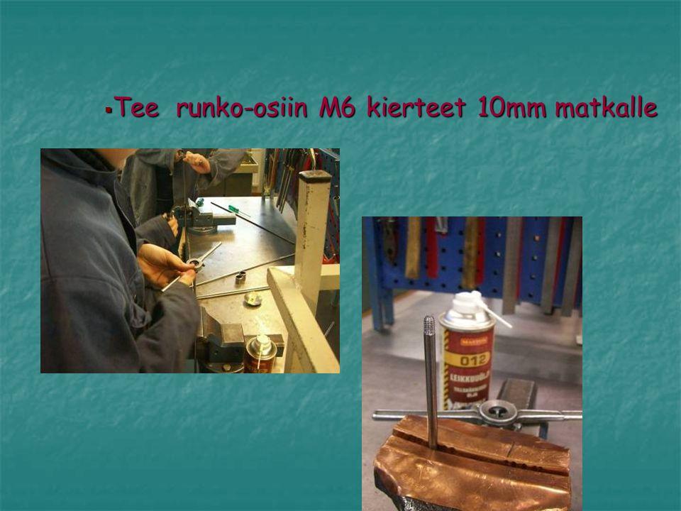 Tee runko-osiin M6 kierteet 10mm matkalle