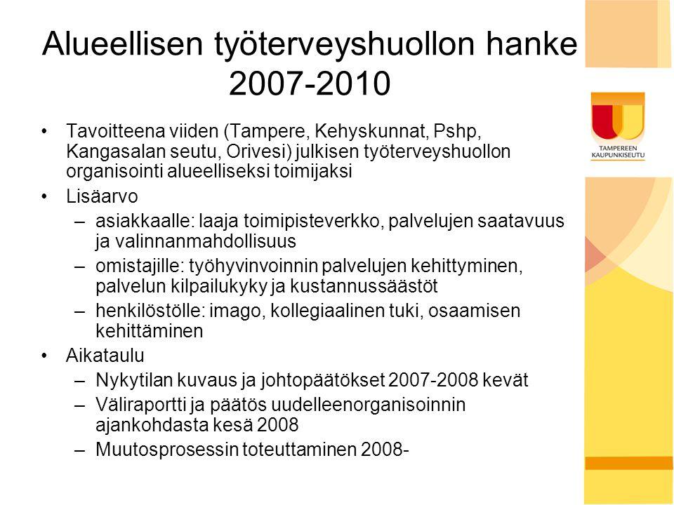 Alueellisen työterveyshuollon hanke 2007-2010