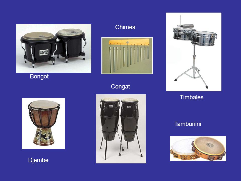Chimes Bongot Congat Timbales Tamburiini Djembe