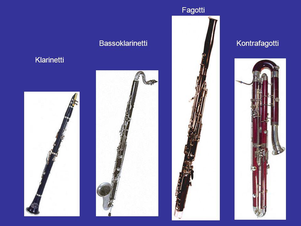 Fagotti Bassoklarinetti Kontrafagotti Klarinetti