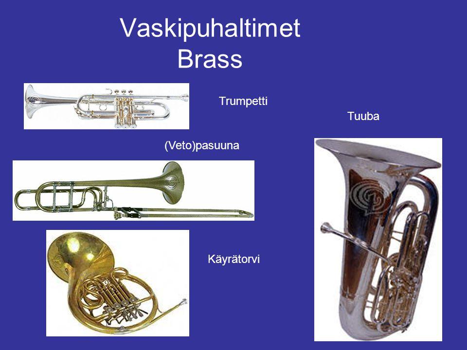 Vaskipuhaltimet Brass