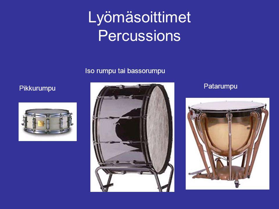 Lyömäsoittimet Percussions