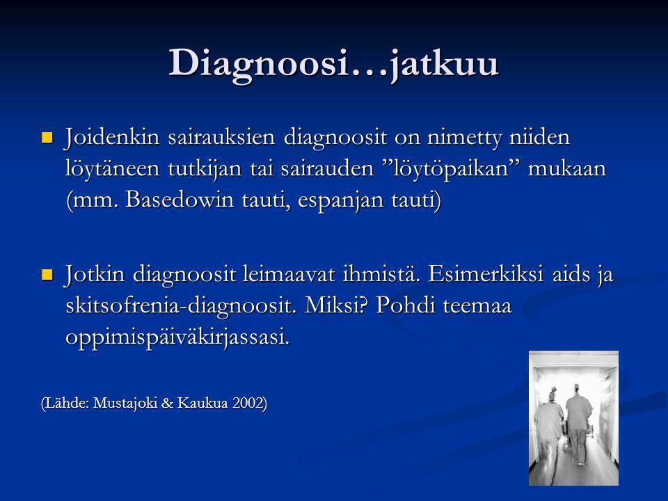 Diagnoosi…jatkuu