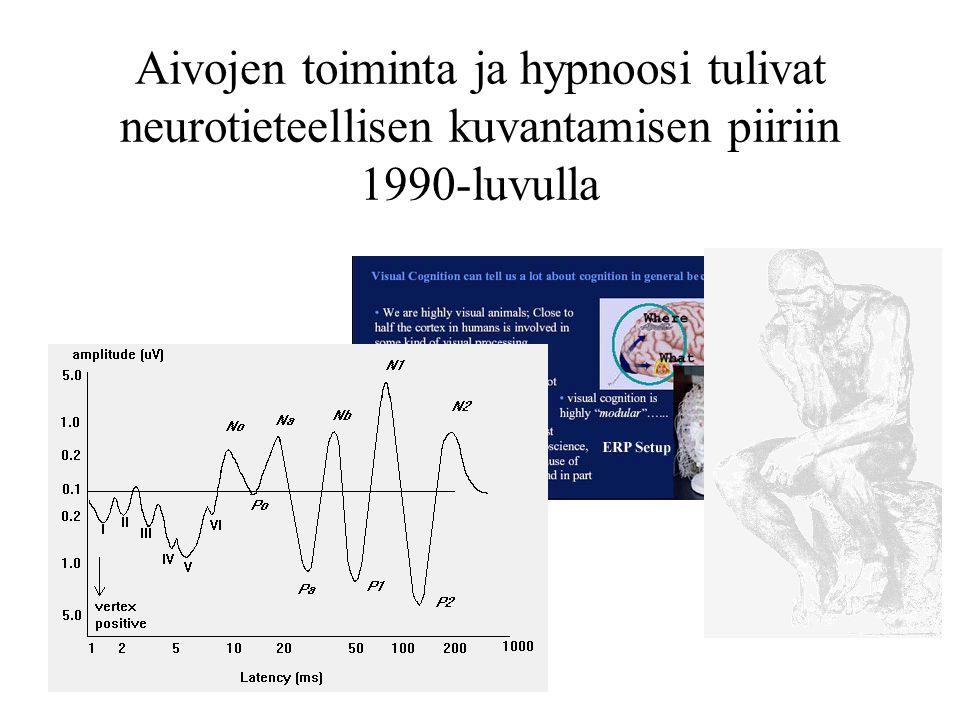 Aivojen toiminta ja hypnoosi tulivat neurotieteellisen kuvantamisen piiriin 1990-luvulla