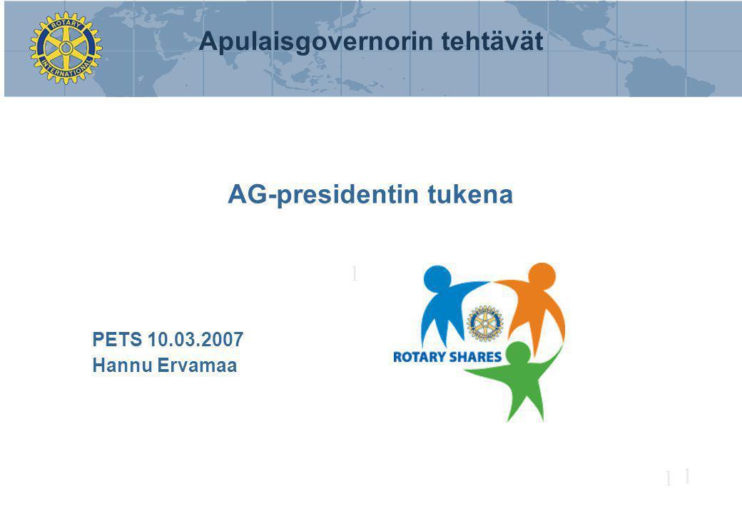 AG-presidentin tukena