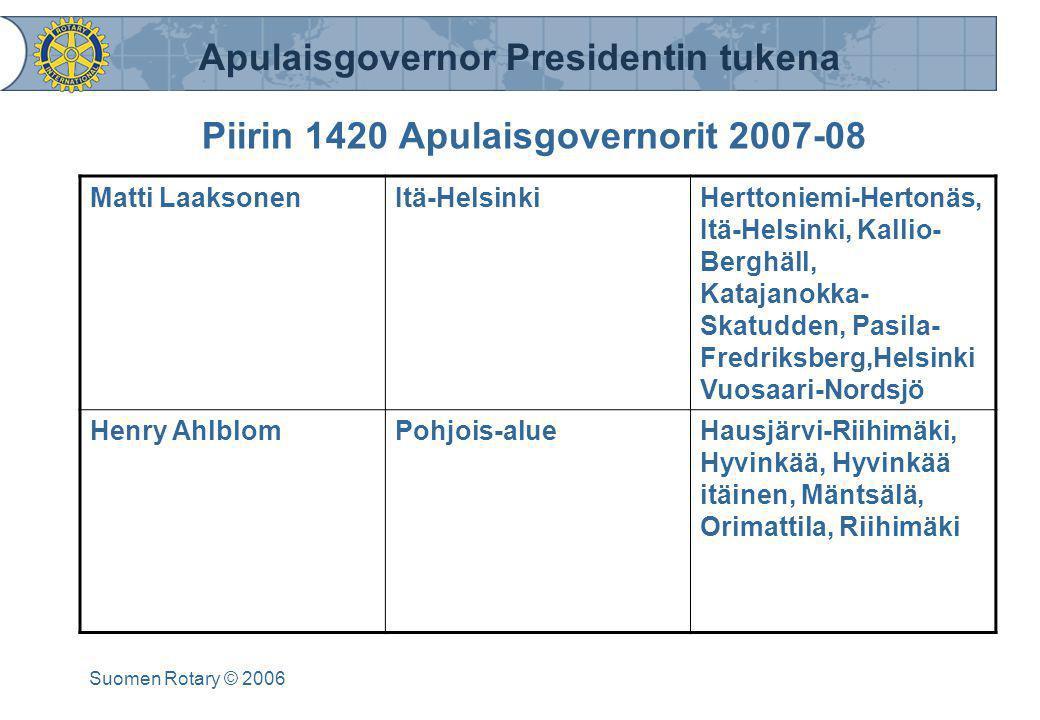 Piirin 1420 Apulaisgovernorit 2007-08