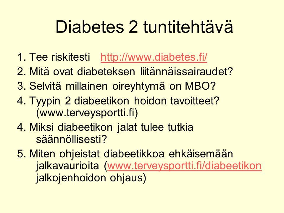 Diabetes 2 tuntitehtävä