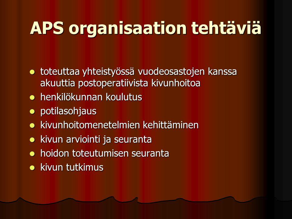 APS organisaation tehtäviä