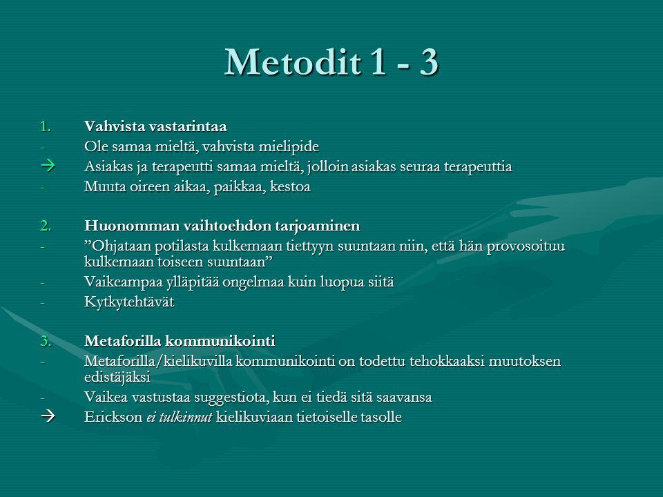 Metodit 1 - 3 Vahvista vastarintaa