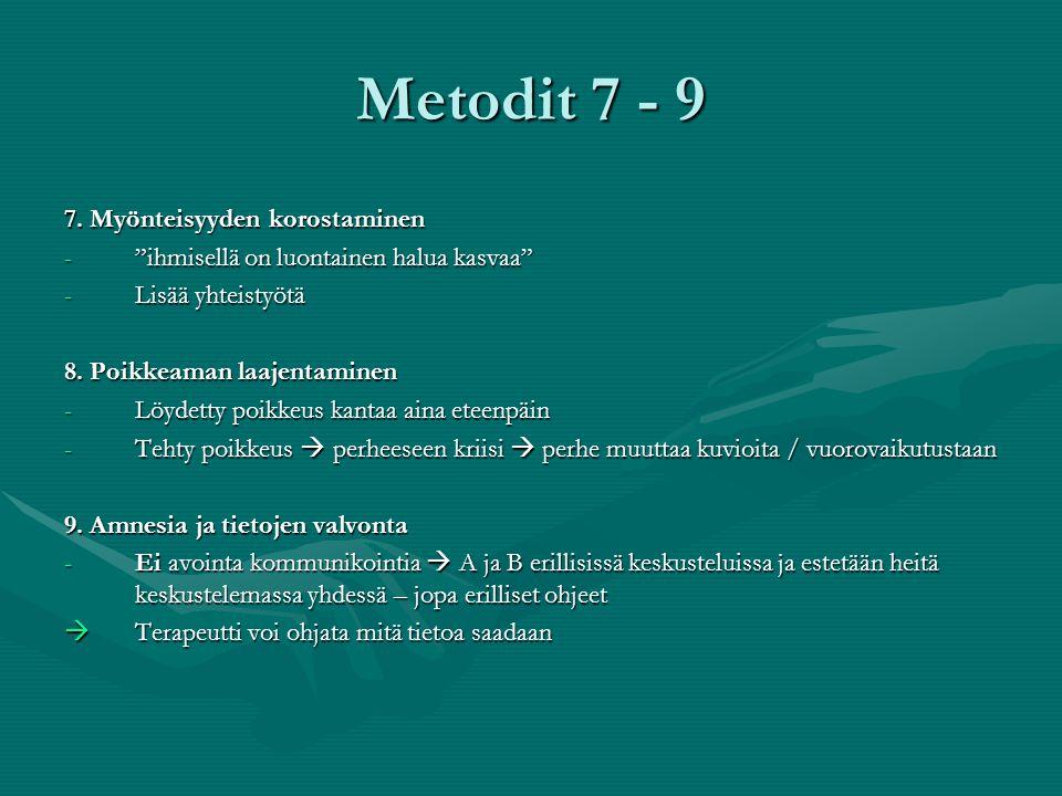Metodit 7 - 9 7. Myönteisyyden korostaminen