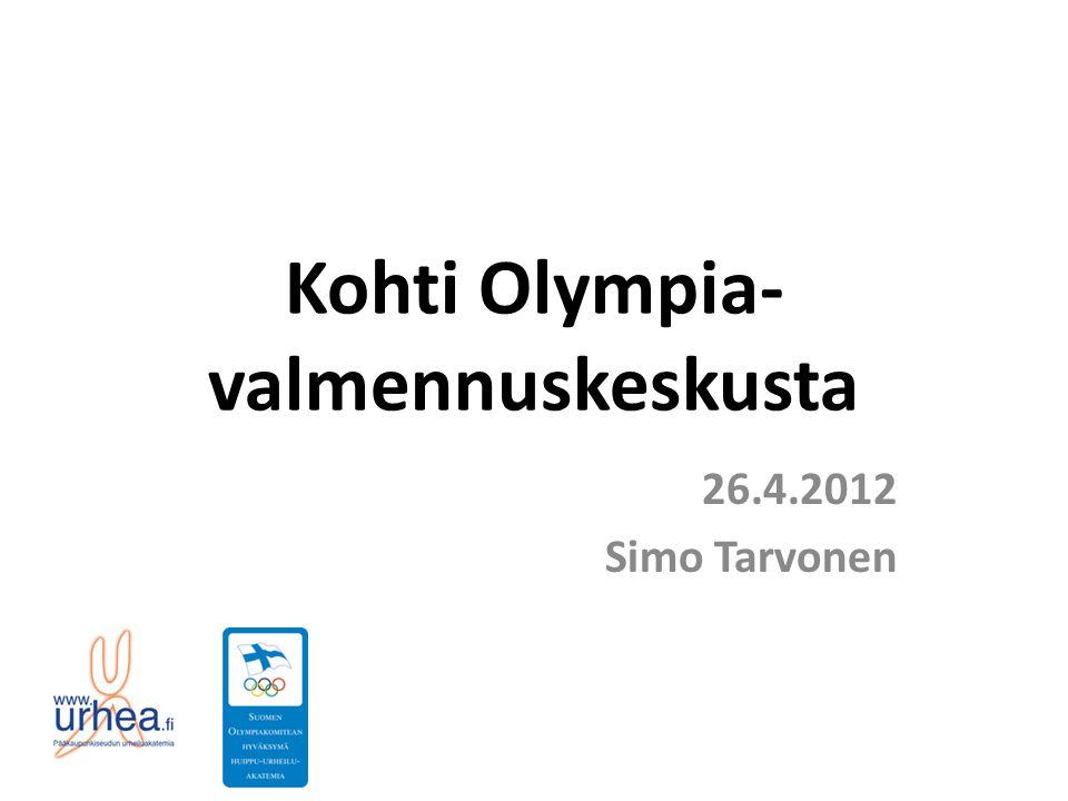 Kohti Olympia- valmennuskeskusta