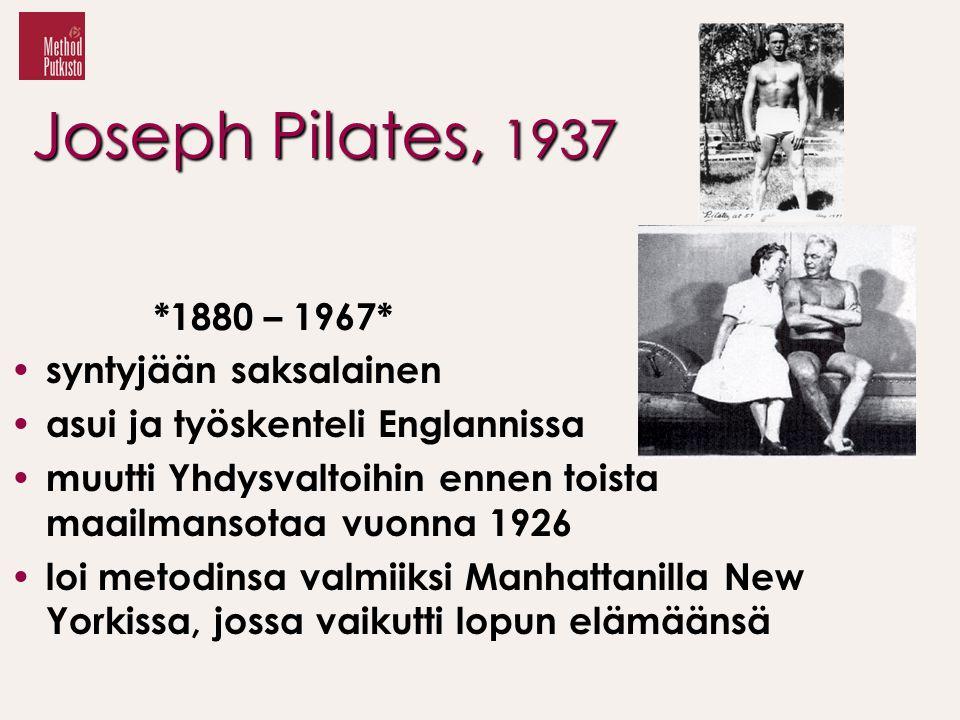 Joseph Pilates, 1937 *1880 – 1967* syntyjään saksalainen