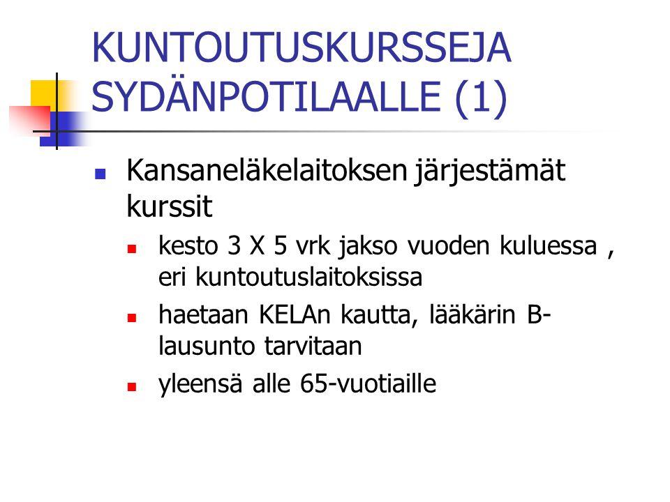 KUNTOUTUSKURSSEJA SYDÄNPOTILAALLE (1)