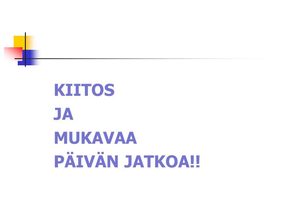 KIITOS JA MUKAVAA PÄIVÄN JATKOA!!